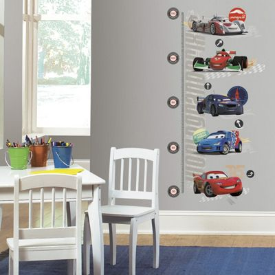 Disney Wall Stickers, Kids Wall Stickers, Cars 2 Height Chart Wall Stickers