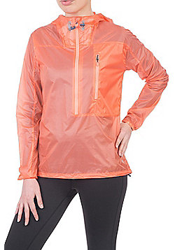 Zakti Super Shield Pullover Showerproof Fabric w/ Adjustable Hood and Zip Pocket - Coral