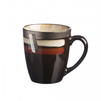 Rayware Piazza Red Mug, Stoneware, Classic Design w/ Stripes