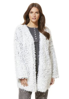Buy F&F Shaggy Fleece Open Front Lounge Cardigan from our Women's ...
