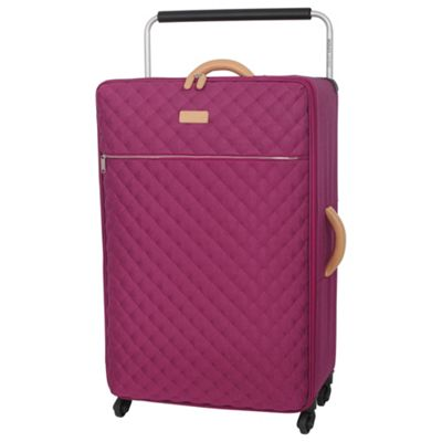Buy IT Luggage Tritex Quilted 4 wheel Persian Red Large Suitcase ...