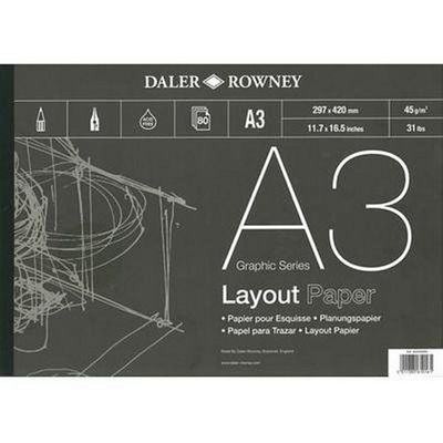 Daler Rowney A3 Series A Layout Pad