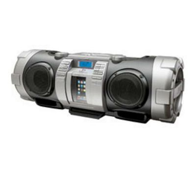 JVC RV-BN70 Powered Woofer CD System-Silver