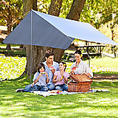 Outsunny 3x3m Rain Tent Camping Sun shade Hiking Shelter w/ Backpack - White