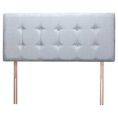 Seetall Sparkle Headboard Grey Faux Suede King