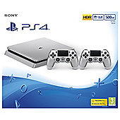 PS4 Slim 500GB Silver Limited Edition Console (D Chassis)