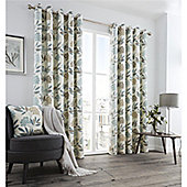 Fusion Karsten Eyelet Curtains - Teal