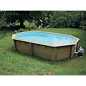 Doughboy Stretched Octagonal Wooden Pool 4m x 6.4m