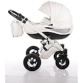 DaVos Moonlight White Leather 2 in 1 Pushchair