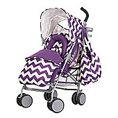 Obaby Metis Plus Stroller Bundle - ZigZag Purple