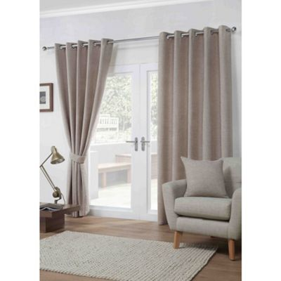 Dover Mocha Eyelet Curtains - 66x72 Inches (168x183cm)
