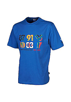 Official Rugby World Cup 2011 Years T-Shirt, Sizes XS, L and XL - Blue