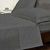Julian Charles Luxury 180 Thread Count Flat Sheet - Charcoal