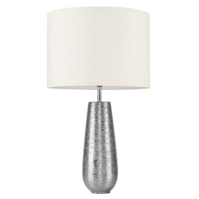 Hastings 65cm Touch Dimmer Table Lamp - Silver & Cream
