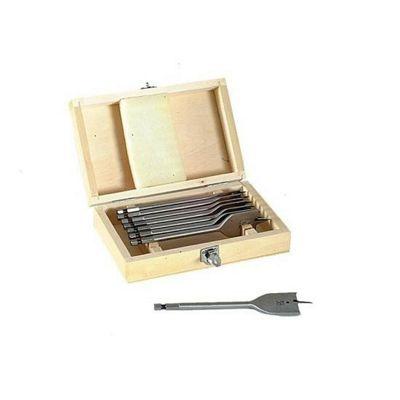 Faithfull Tools Faithfull Flat Bit Set 8pc In Wooden Box