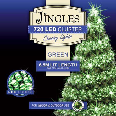 Jingles 720 Multi-Function 6.5m Cluster Lights - Green