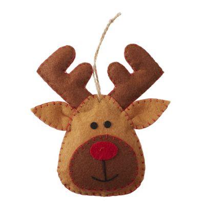 Felt Reindeer Christmas Tree Decoration
