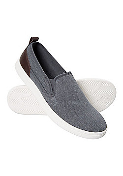 Mountain Warehouse Drift Canvas Mens Slip-On Shoes - Blue