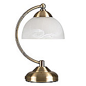 Stamford Crescent Touch Table Lamp Antique Brass