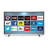 Goodmans G55ANSMT-4K 55 Inch UHD Curved Android Smart LED TV - Silver