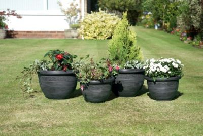 buy pack of 4 wenlock planters from our planters range tesco. Black Bedroom Furniture Sets. Home Design Ideas