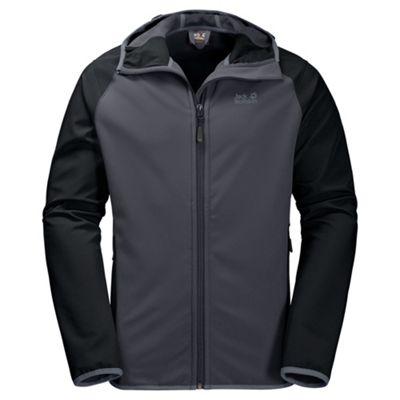 Jack Wolfskin Mens Zenon Softshell Jacket Ebony 3XL