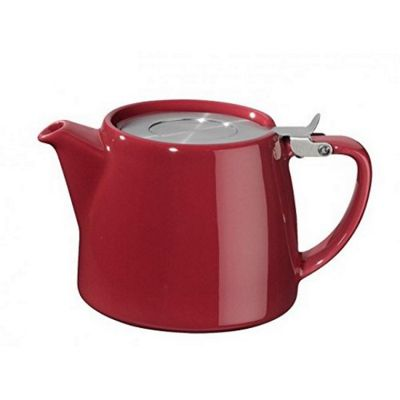 Forlife Stump Infuser Teapot 18oz in Bordeaux