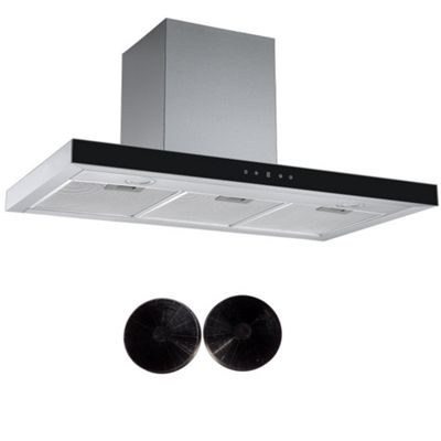 Cookology LINT901SS Linear Cooker Hood Touch Control 90cm Designer Extractor Fan & Carbon Filters