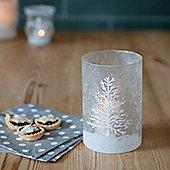 Snow Scene Christmas Candle Holder