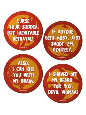 Character Quotes - Pack Of 4 Coasters