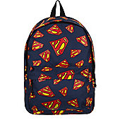 DC Comics Superman Logo All Over Print Blue Backpack 24x41x12cm