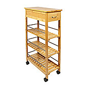 Woodluv Slimline Space Saver Bamboo Kitchen Islands Trolley