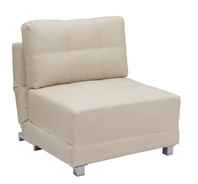 Leader Lifestyle Rita Chair Bed - Luscious Cream Leather