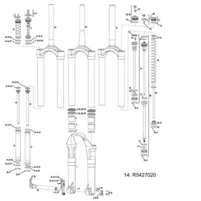 RockShox Damper Tube MiCo / MiCo DH Totem 10-12 (Not Compatible w/ 07-09 Rbnd Damper)