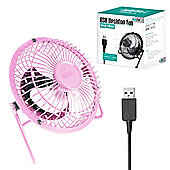 """Twitfish Metal USB Desk Fan 4"""" - Pink"""