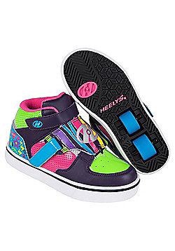 Heelys Tornado Purple/Neon Heely Shoe Kids Heely Shoe - Purple