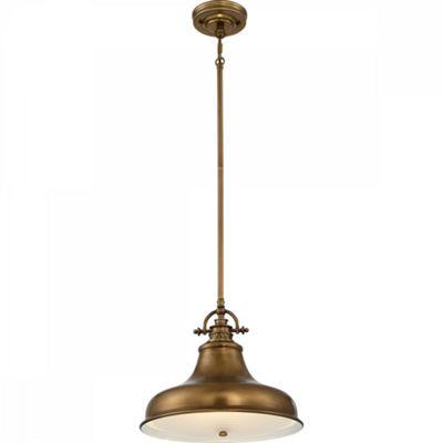 Weathered Brass Mini Pendant - 1 x 100W E27