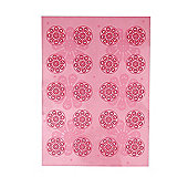 Dexam Non Stick Silicone Baking Mat, Pink Floral
