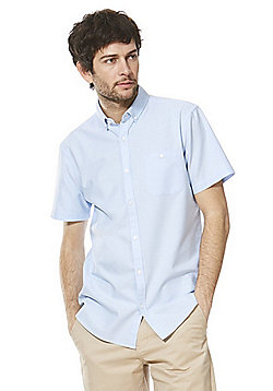 F&F Short Sleeve Oxford Shirt - Light blue