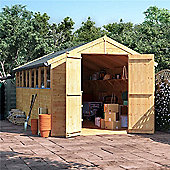 BillyOh Master Tongue and Groove Apex Wooden Garden Shed - 16 x 8 Windowed