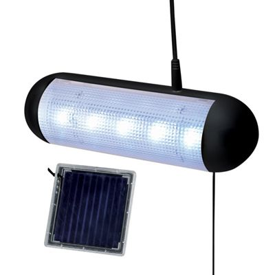 5 Led Solar Powered Rechargeable Garden Path Wall Garage Shed Light
