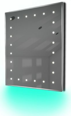Ambient Ultra-Slim LED Bathroom Mirror With Demister Pad & Sensor K39T