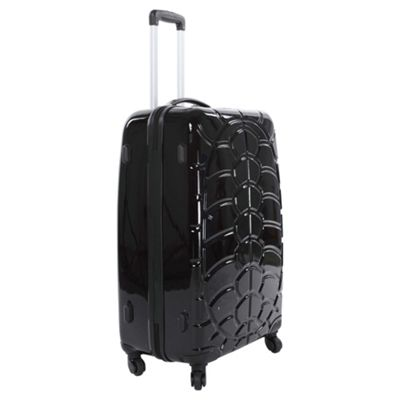 Beverly Hills Polo Club Hard Shell 4-Wheel Suitcase, Black Gloss Small
