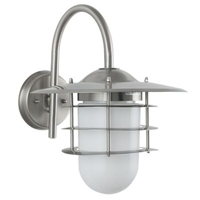 Stainless Steel & Glass Hanging Outdoor Wall Light