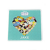 Tsum Tsum Personalised Green Coaster (Single)