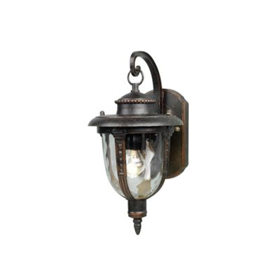 Weathered Bronze Wall Lantern Small - 1 x 100W E27