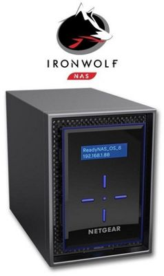 Netgear ReadyNAS RN422 2-Bay 4TB(2x2TB Seagate IronWolf) High-performance Business Data Storage