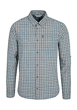 Mountain Warehouse Holiday II Mens Checked Shirt - Blue