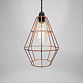 Country Club Metal Light Fitting Copper Shoreditch