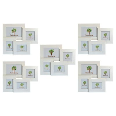 Nicola Spring Multi Collage Hanging Photo White Frame - 4 photo spaces - Pack Of 5